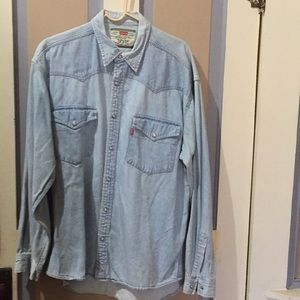 Levi's button up Jean shirt